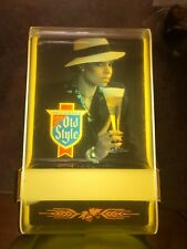 Heileman's Old Style Lighted Beer Sign from the 1980's with a woman