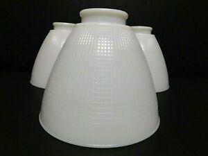 Vintage Milk Glass Ceiling Fan/Light Fixture Globes/Shades (3) Ex. Vintage Condi
