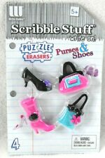 New listing Shoes & Purses 4 Puzzle Erasers Collectible *New* Fashion Girly