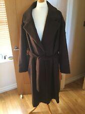 M&S Collection Wool Mix Coat Uk 20 Raisin Press Stud & Belt Fastening BNWTS 7192