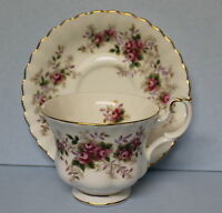 Royal Albert Vintage Bone China Lavender Rose Coffee Cup and Saucer
