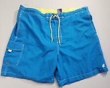 "Caribbean Joe Mens Swim Trunks Blue Mesh Lining Board Shorts Size XXL 42"""