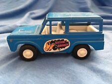 Vintage 1970 FORD BUCKIN' BRONCO TootsieToy 4x4 Off Road Truck Built Tough Blue