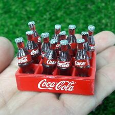 12 Bottles Coke Soft Drink 1 Plastic Cases Dollhouse Miniature Collectibles New