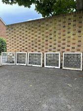 More details for job lot of 5 reclaimed leaded light panel wooden window