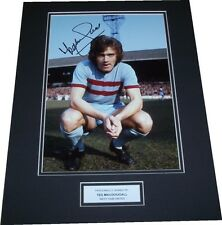Ted MacDougall - West Ham United Signed 12x8 Photo Mounted PROOF