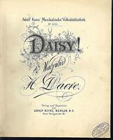 DAISY ! ~ Walzerlied von H. Dacre , übergroße, alte Noten