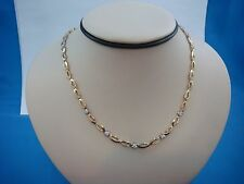 14K YELLOW GOLD DIAMOND NECKLACE, 15.4 GRAMS, 0.50CT T.W. 16.25 INCHES LONG.