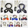 Women Lady Colorful Square Silk Feel Satin Scarf Head Neck Hair Tie Band 70x70cm