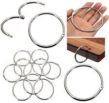 80/50/35mm Metal Silver Split Rings Ring Loop Hinged Book Binder Album Key Chain