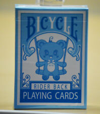 Bicycle Lovely Bear Rider Back Blue Playing Cards Deck Brand New Sealed
