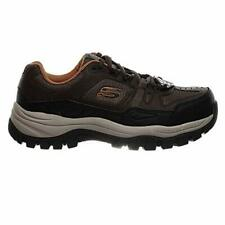 Skechers Men's, Kerkade Steel Toe Work Shoe Color BROWN