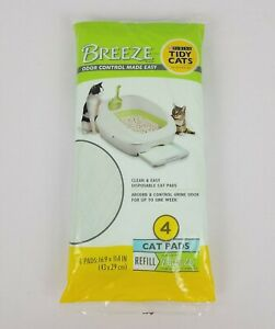 1 Pack of 4 Pads - Breeze Purina Tidy Cat Litter Pads For Breeze Litter System