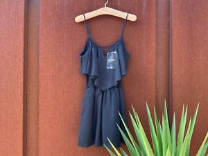 MISSGUIDED Black Playsuit - Size 10 - BNWT!