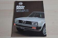 145260) Alfa Romeo Alfetta 2000 L Prospekt 11/1978