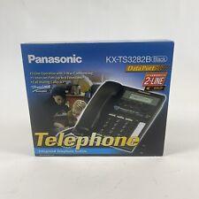 Panasonic KX-TS3282B Black 2-Line Intergrated Telephone System [New Open Box]