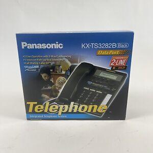 Panasonic KX-TS3282B Black 2-Line Intergrated Telephone System New In Box