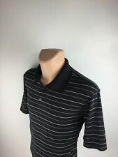 Champion Men's Black/White Striped Short Sleeve Golf Polo Rugby Shirt Size Xl
