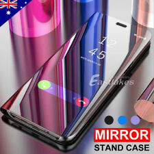 Galaxy J5 Pro J3 2017 Luxury Slim Mirror Flip Case Stand for Samsung A5 A8 2018