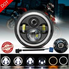 DOT 7 Inch Round LED Headlight Hi-Lo Beam DRL Fit For Harley Davidson Motorcycle
