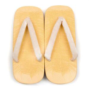 Japonais Setta Traditionnel Éponge Sandale Blanc Sable Pour Kimono Yukata