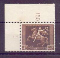 Dt. Reich 1938 - Braunes Band - MiNr.671 Eckrand postfr.- Michel 150,00 € (873)