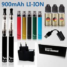 E-Zigarette 900mAh + EZigarette DoppelSet + Einsteiger Set Liquid CE4 Komplett +