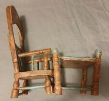 Muebles de muñecas: 2 en 1 niños silla alta asiento para niños & con mesa de juego/altura ca 26 cm