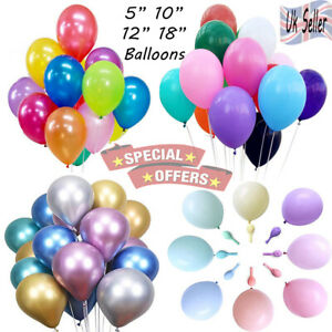 "25 10"" 5"" PEARL Plain Pastel BALLOONS BALLON helium BALOON Birthday WeddingParty"