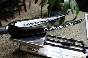 "Cannondale Super Six Carbon Fork 8.5"" Steerer 1 1/8""-1 1/2"" Tapered Gloss Black"