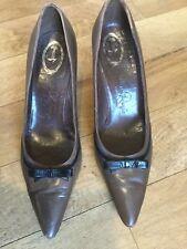 Vintage années 50 Miss Rayne Roger Vivier marron noir talons aiguilles chaussures