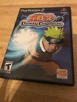 Naruto: Uzumaki Chronicles (Sony PlayStation 2, 2006) Complete