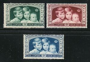 Belgium 1935 MNH Mi 396-398 Sc B163-B165 Prince Baudouin,Prince Albert.Child **