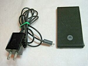 """Motorola External Battery W 60"""" Cord Wall Charger also Has A USB Port"""