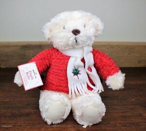 HALLMARK - Musical Plush Christmas Jingle Teddy Bear - FREE SHIPPING