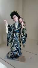 MINIATURE DOLL OOAK DOLLHOUSE PORCELAIN JAPANESE MOTHER AND SON