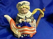 FITZ & FLOYD Important Women 1993 BETSY ROSS Cookie Jar Limited Edition MINT