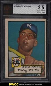 1952 Topps Mickey Mantle #311 BVG 3.5 VG+