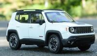 Welly 1:24 Jeep Renegade Diecast Model Sports Racing Car Toy White NEW IN BOX