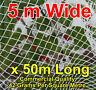 Commercial Knitted Anti Bird Netting 5 Metre Wide x  50 Metres Long -White