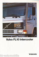 Volvo FL10 Prospekt 5/90 brochure prospectus broschyr brosjyre 1990 Lkw Schweden