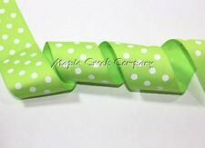 Polka Dot Grosgrain Ribbon 1.5 inch x 1 yard (3 ft of cut ribbon) YOU PICK COLOR