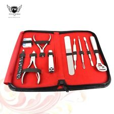 10pcs Professional Manicure Pedicure Grooming Nail Kit Stainless Steel Set UK
