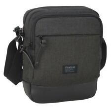 Men's Firetrap Mini Messenger Bag Flight Gadget Bag Festival Retro Black Gift
