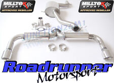 "Milltek Golf GTI MK6 Exhaust Cat Back 3 "" Race System Res Rear Silencer SSXVW145"