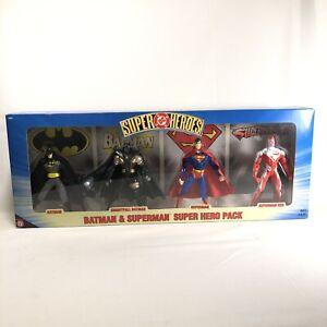 DC Super Hero Pack Batman Superman 4 Figure Knightfall Red Hasbro Vintage Rare
