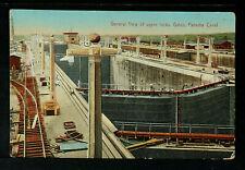 PANAMÁ 10-PANAMÁ -General View of upper locks, Gatun, Panama Canal