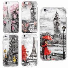 Fundas Londres Paris NY Romantico Amor Otoño  - PARA TODOS LOS IPHONE Y SAMSUNG