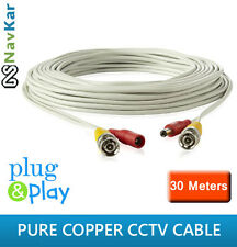 30 METERS CCTV PURE COPPER WIRE/CABLE FR DOME CAMERA BULLET CAMERA CCTV SYSTEM