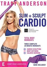 Tracy Anderson Slim + Sculpt Cardio (with Band) - 3x20 min workout NEW R4 DVD